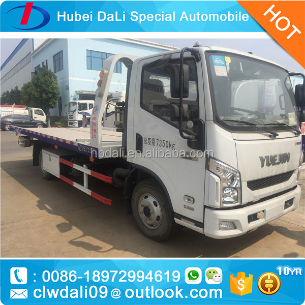 YueJin slide flat bed recovery truck break down truck