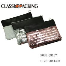 Wholesale fashion high quality glitter sequin beautiful cosmetic bag