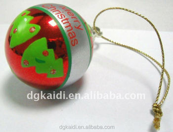 Popular selling Christmas gift decoration ball toy supplier