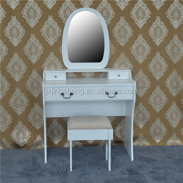 China wood dressing table, white dresser