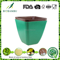 Biodegradable compostable eco-friendly bamboo flower pot holder for sale
