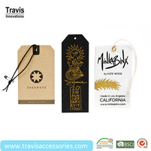 Custom Merchandise Tags For New Product, Corner Cutting Retail Hangtags
