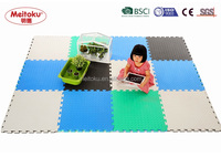 Eva foam Combination yellow & beige colourful non slip eco-friendly and safe kids floor mat 60*60*2.5cm