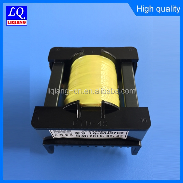 CE ROHS Approved ETD single phase high voltage high frequency transformer