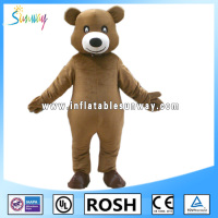 brown colour inflatable bear fur costume for advertising
