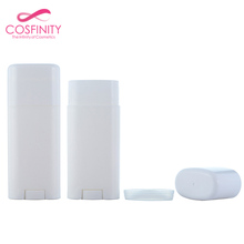Customize color 40G PP AS flat plastic deodorant containers empty deodorant stick with roller