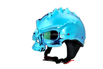Decorative Skull Helmet open face cool stylish motorcycle helmets,unique motorcycle helmets,half face helmet YM-333