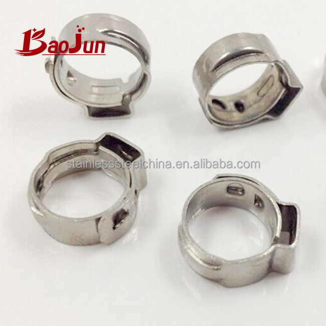China Baojun single ear wire 304 stainless steel hose clamp