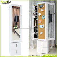 Rotating large wardrobe armoires with mirror