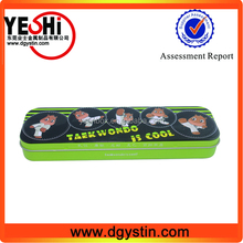 metal type tin colored pencil case,pen box