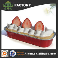 Rectangle oven safe disposable aluminium foilrice cake mould