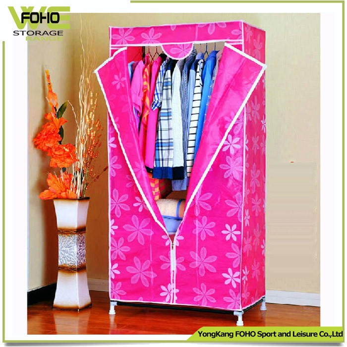Home Furniture General Use and Bedroom Furniture Type DIY Fabric Wardrobe Cabinet