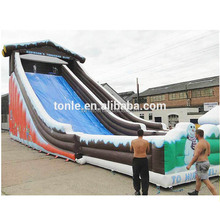 Snow Inflatable Water Slide, Giant Snow Park Tobbogan Slide with Wide Lane for sale