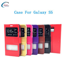 Mobile Phone Flip Leather Wallet Stand Case For Samsung Galaxy S5, For Samsung S5 Cover Case