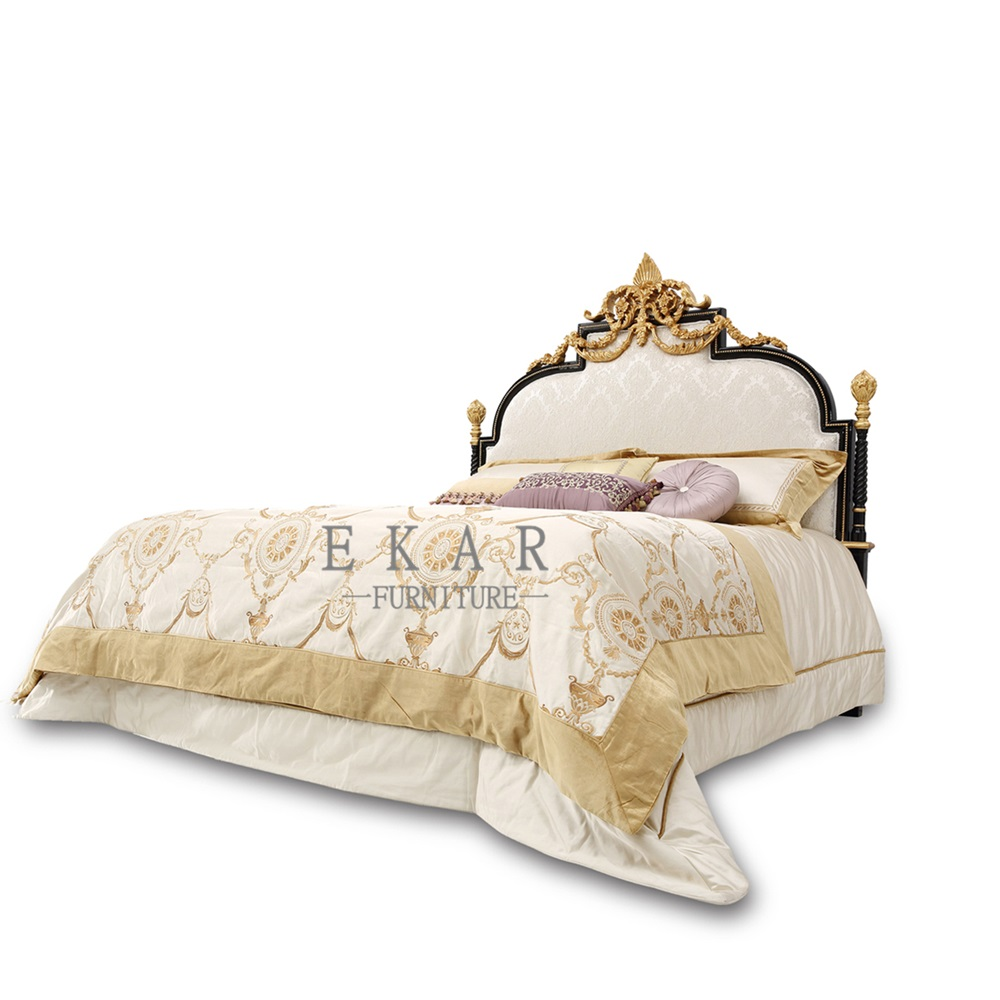 Itlain luxury prince bedroom set Hand carved bed room solid wood furniture