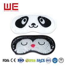 Cute printing Microwavable hot cold pack compress gel beads eye mask for reduce swelling