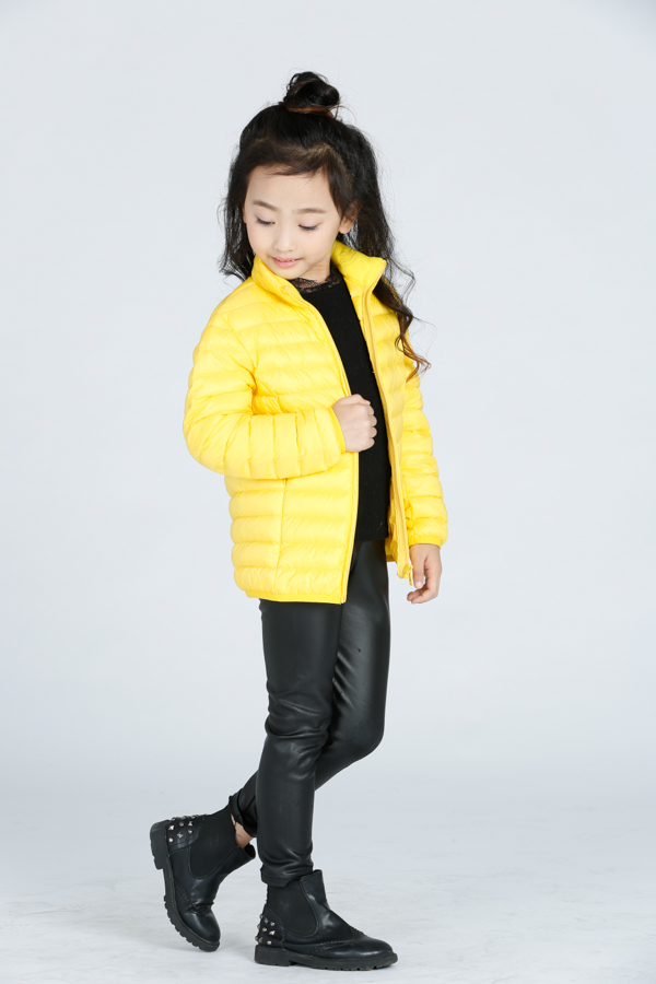Free sample winter cheap softshell kids down jacket