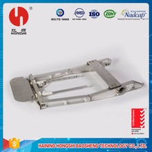 China supplier plane seat backrest end milling processing machine components