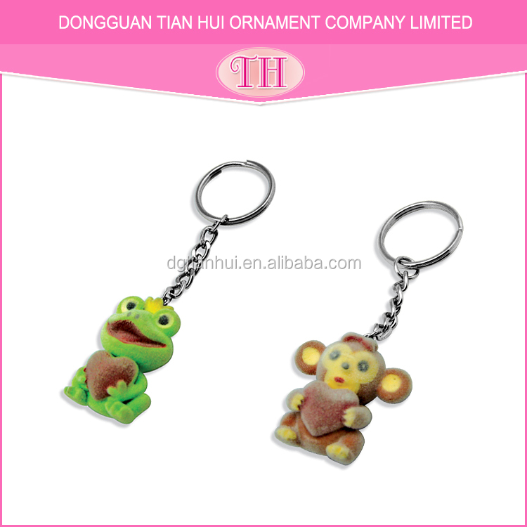 Customized hot selling cheap frog key chain make your logo metal keychain