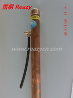 Pure copper carrier chemical earth rod