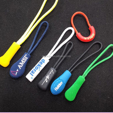 Wholesale bulk Custom rubber zipper pull for sport clothing,rubber zipper puller for sport shoes,zip puller with cord