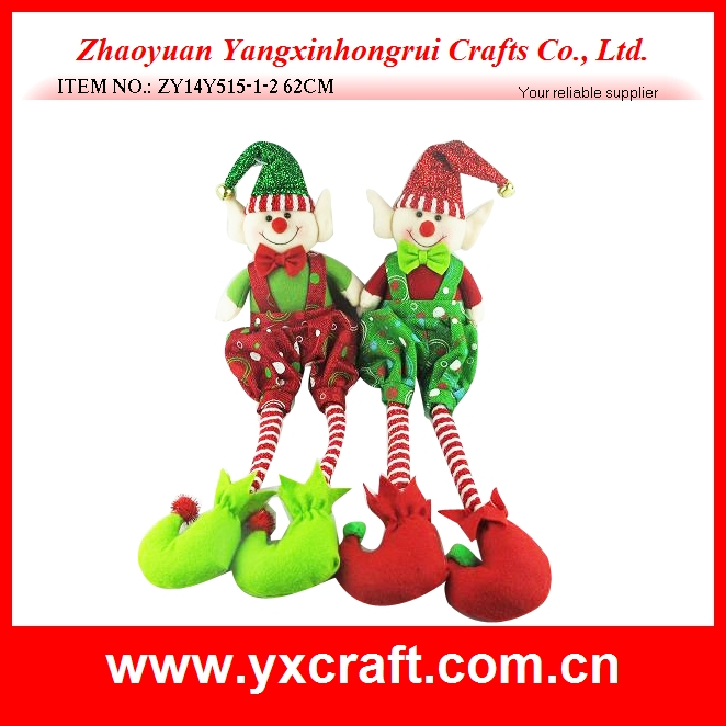 Plush Christmas elf hanging toy /christmas ornaments stuffed elf dolls