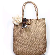 Wholesale Bags Handmade Beach Woven HandBags Straw Tote Bags