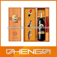 Hot!!! Customized Made-in-China Yellow Presentation Wine Corkscrew Box In Foam(ZDW13-W010)