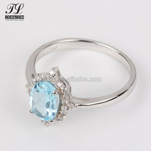 Wholesale Guangzhou panyu nepal silver rings jewelry,prong solid sapphire ring