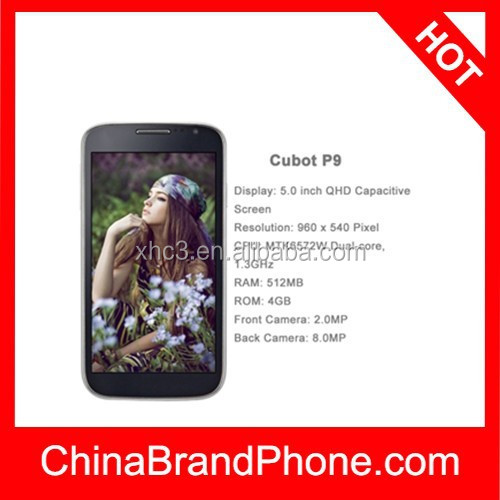 High quality cubot P9 Android 4.2 3G mobile phone, 5.0 inch (16:9) QHD Capacitive Screen smart phone