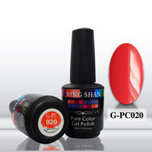 hot sale soak off color gel polish G-PC020 solid color uv gel for nail art nail painting