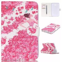 Fashion Color Printing Wallet PU Leather Case For Samsung Galaxy Tab 3 Lite T110