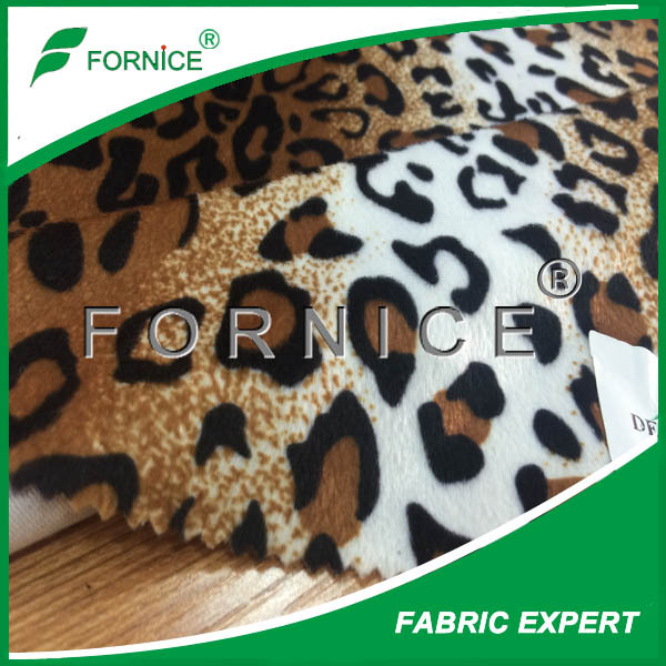 Animal printed velboa fabric used for toy/carseat covers