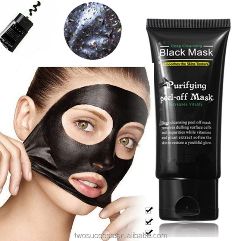 Deep Cleansing purifying peel off Black face black mask Remove blackhead whitening active carbon facial mask