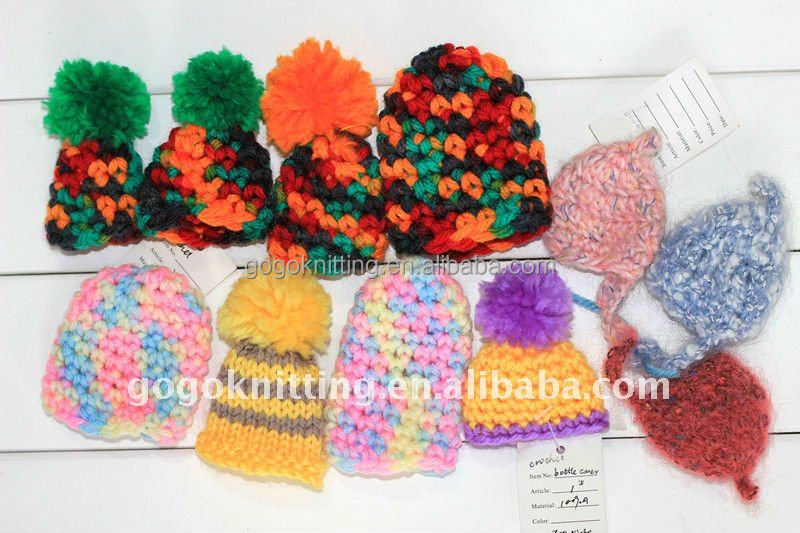 fashion Holiday gifts DIY hat colorful DIY knitting kit