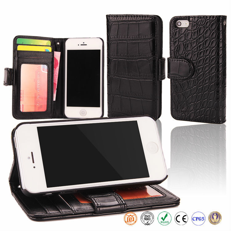 accessories wholesale cell phone leather bag phone case for iphone 5 5S