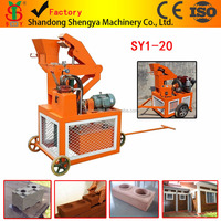 SY1-20 hydraulic interlocking block machine low investment business in Algeria ,Tanzania,mozambique
