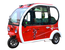 Adults closed cabin 3 seats mini electric tricycle for passenger