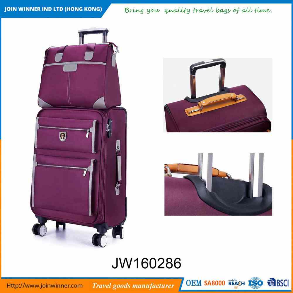 Factory Wholesale 3 Piece Trolley Luggage Set With Promotional Price
