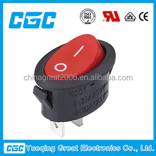 CGC high quality rock switch KCD1-101-9 120v rocker switch
