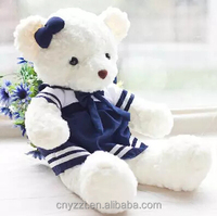 Navy blue skirt rice white female giant stuffed teddy bear doll plush toys