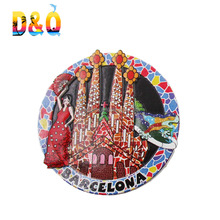 New design resin souvenir barcelona fridge magnet