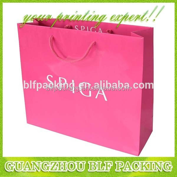 Good printing techonology paper material bag packing favorable price small paper bag