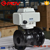 2 way flanged cf8 motor operated ball valve