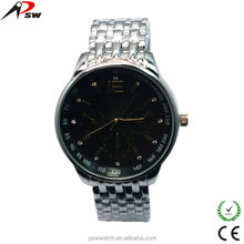Hot and new quartz stainless steel watch water resistant