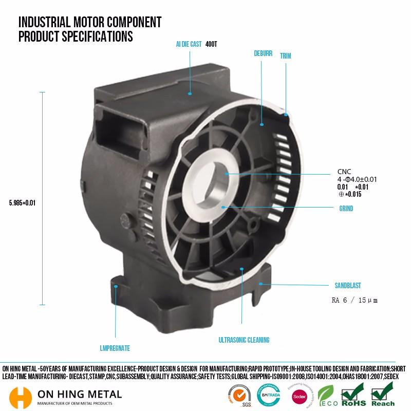 Aluminum Casting Motor Spare Parts Auto Manufacturer