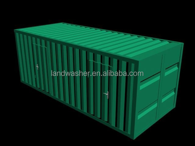 Economic WC toilet container for building site
