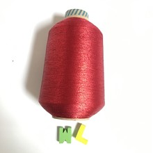 mh type red color sewing machine metallic yarn