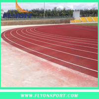Spray Coat Paint System Rubber Running Track / Rubber Track System for Small Vehicle / Sport Flooring