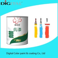 High covering power solid color decorative matt paint